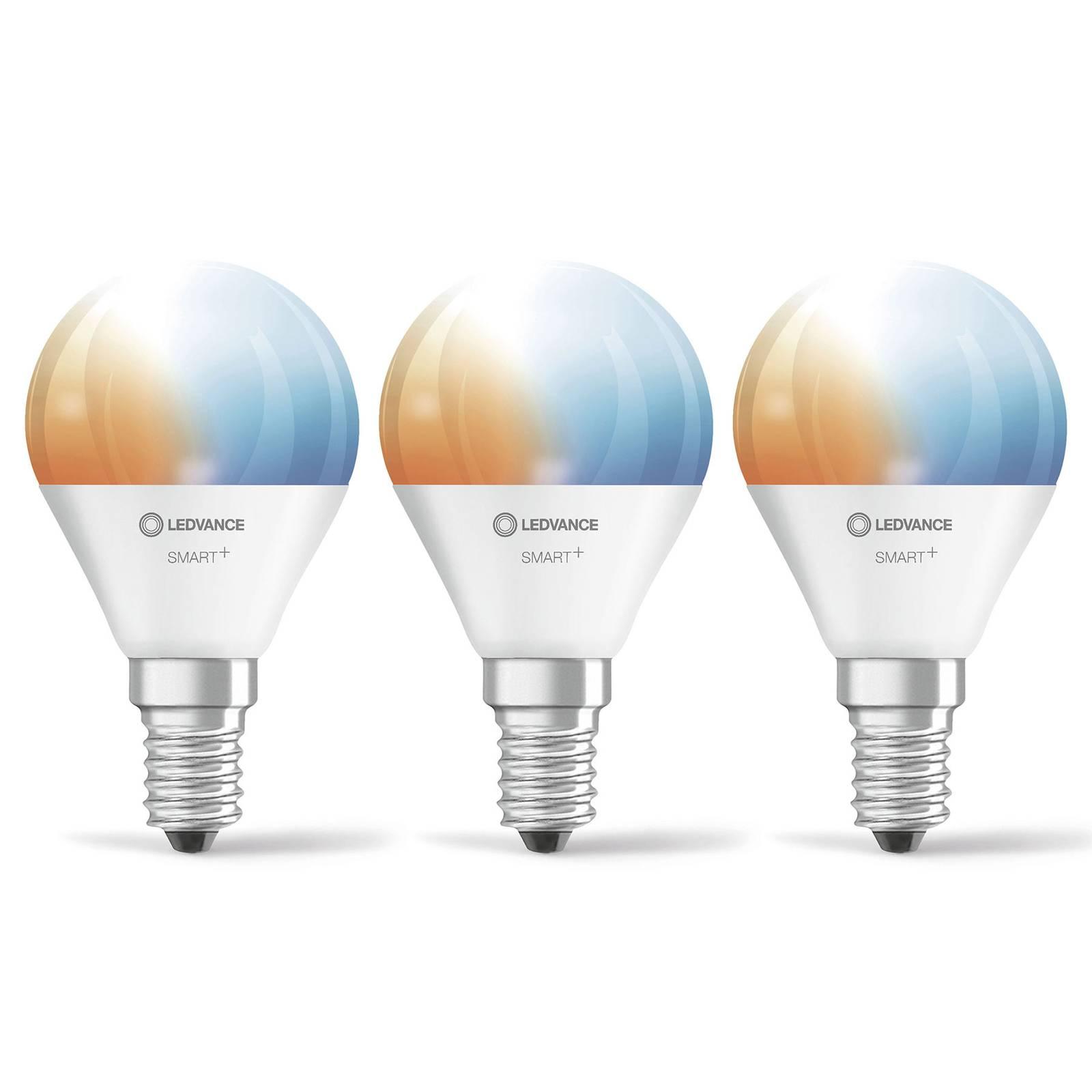 LEDVANCE SMART+ WiFi E14 5W pisara CCT 3 kpl