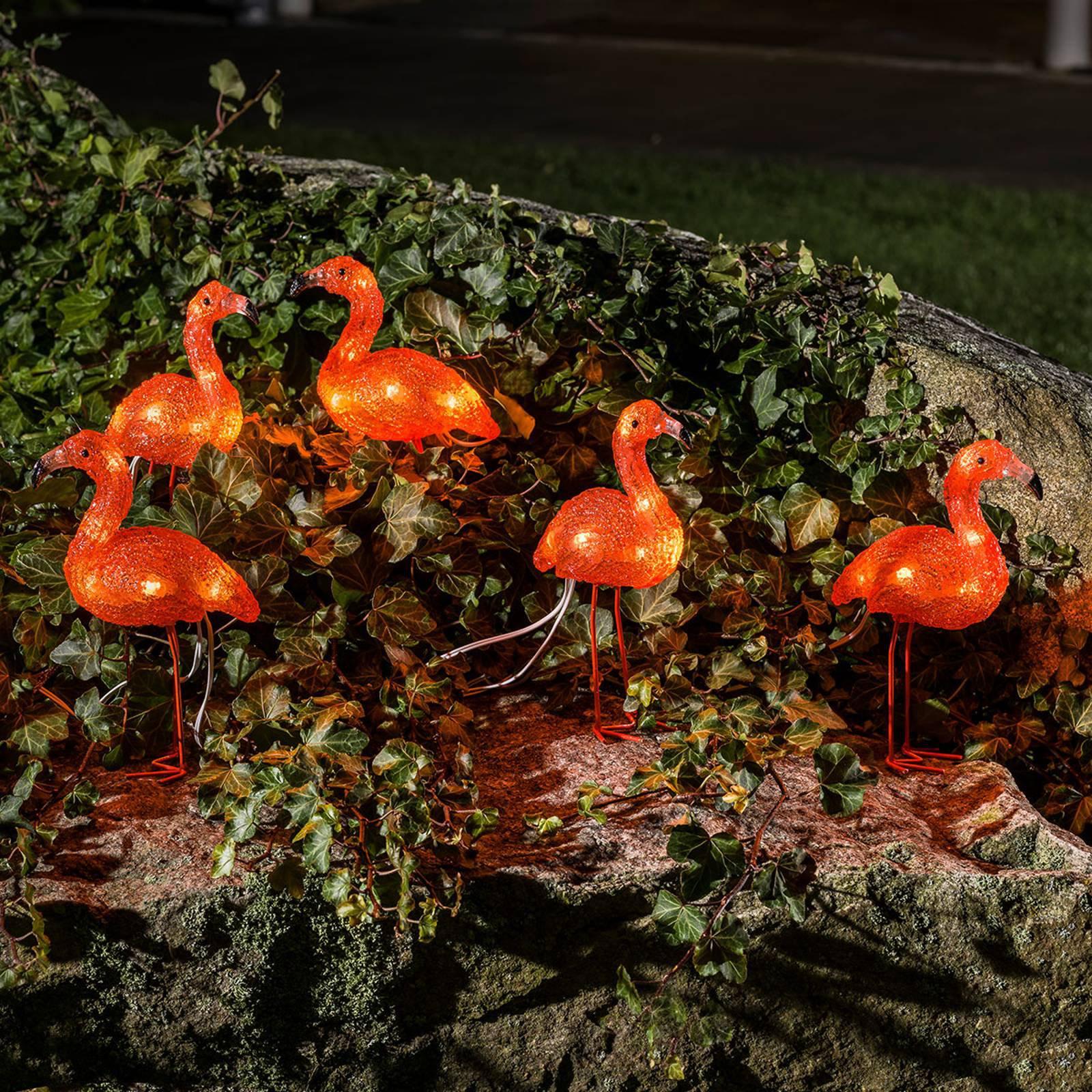 Flamingo LED-dekorasjonsbelysning i 5er-sett