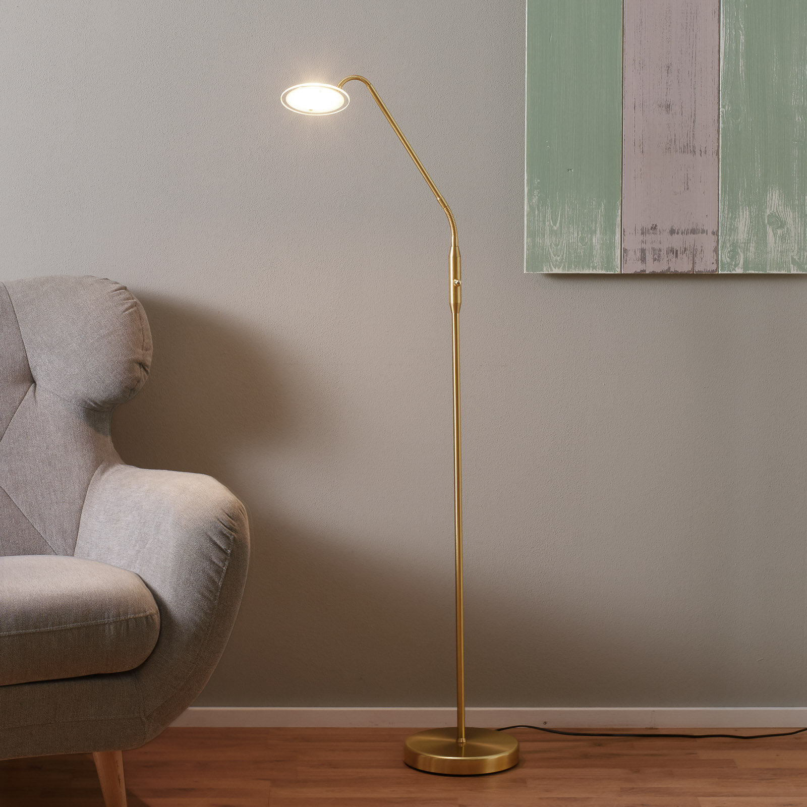 LED-lattiavalaisin Twin, 1-lamppuinen, messinki