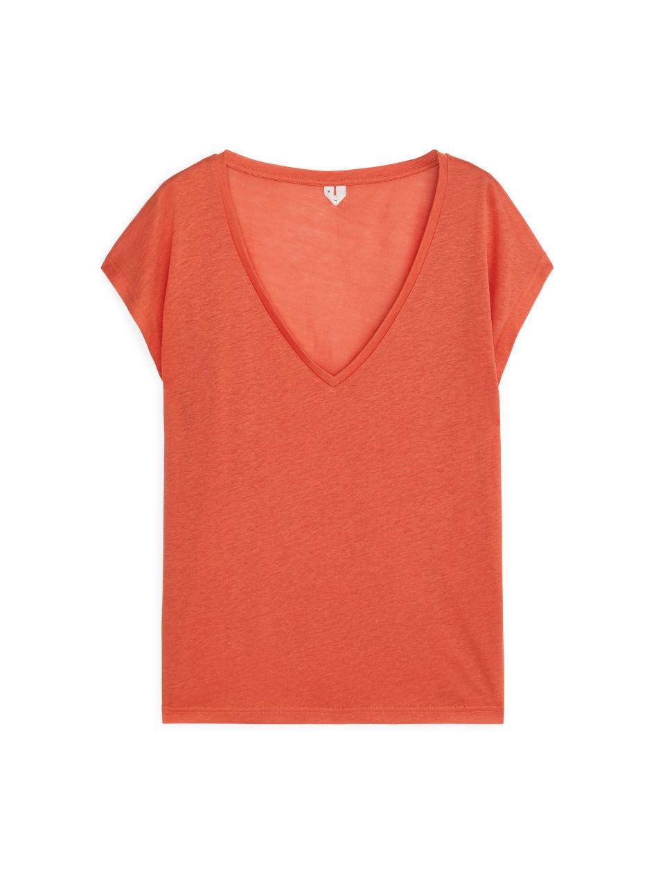 Semi-Sheer T-Shirt - Orange