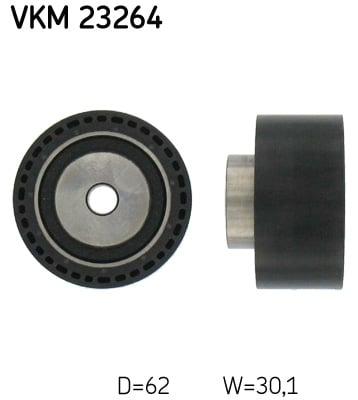 Ohjainrulla, hammashihna SKF VKM 23264