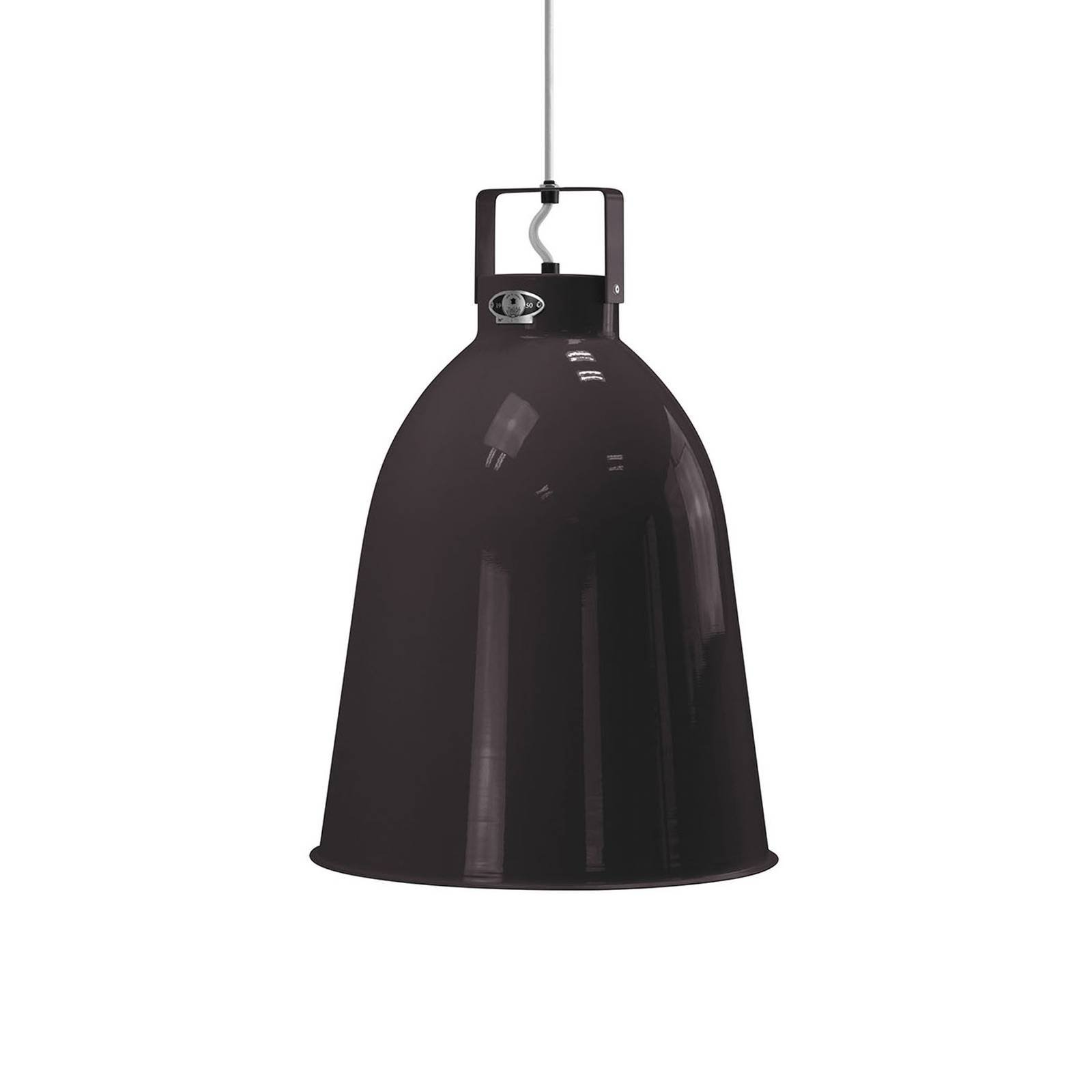 Jieldé Clément C360 hengelampe, blank svart, Ø36cm