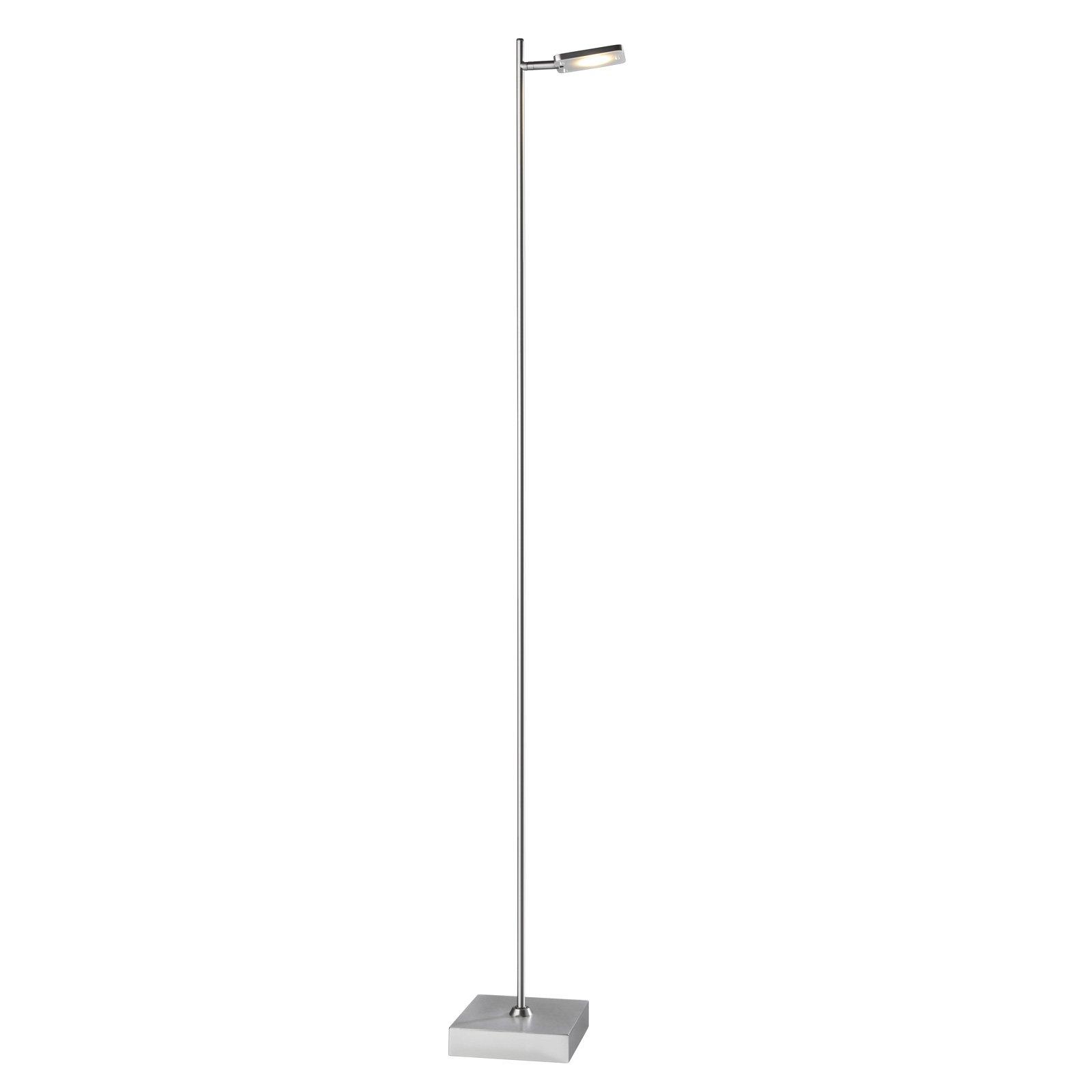 LED-gulvlampe Quad, dimmer, 1 lyskilde, aluminium