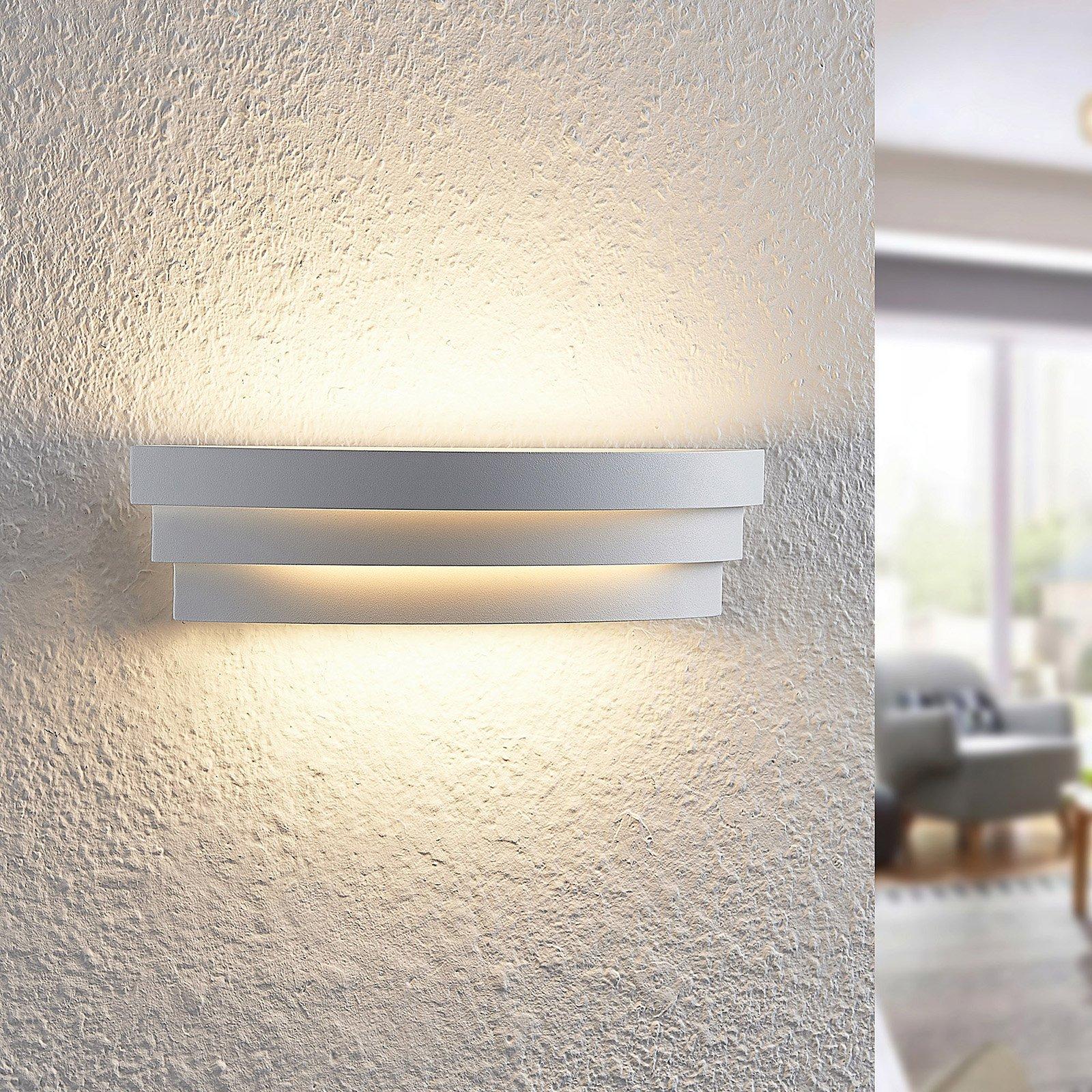 Arcchio Harun LED-vegglampe i hvit, 30 cm