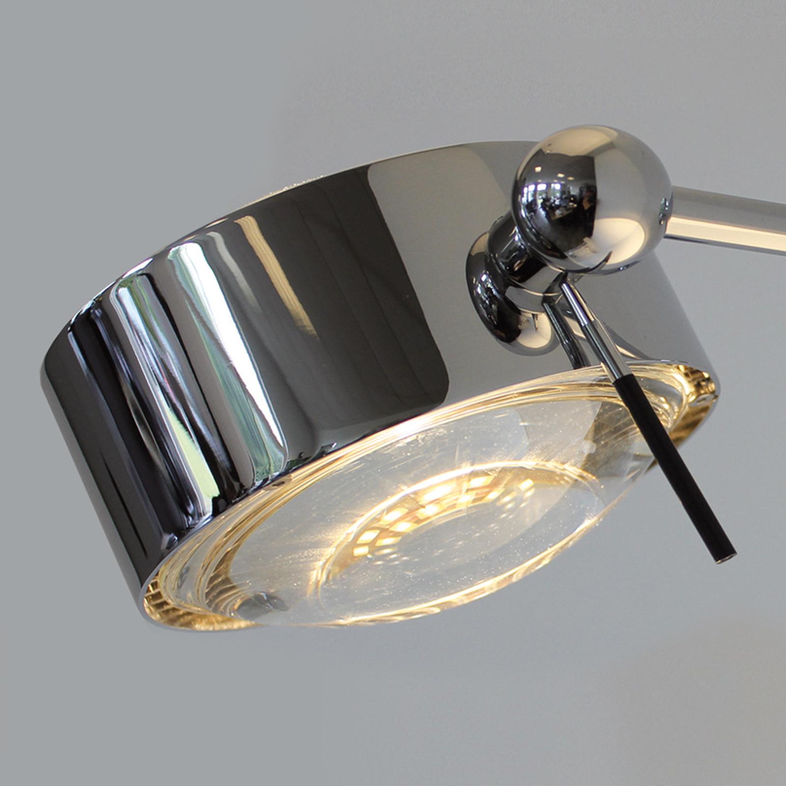 1 lampun PUK SIDES -seinävalaisin 10 cm kromi