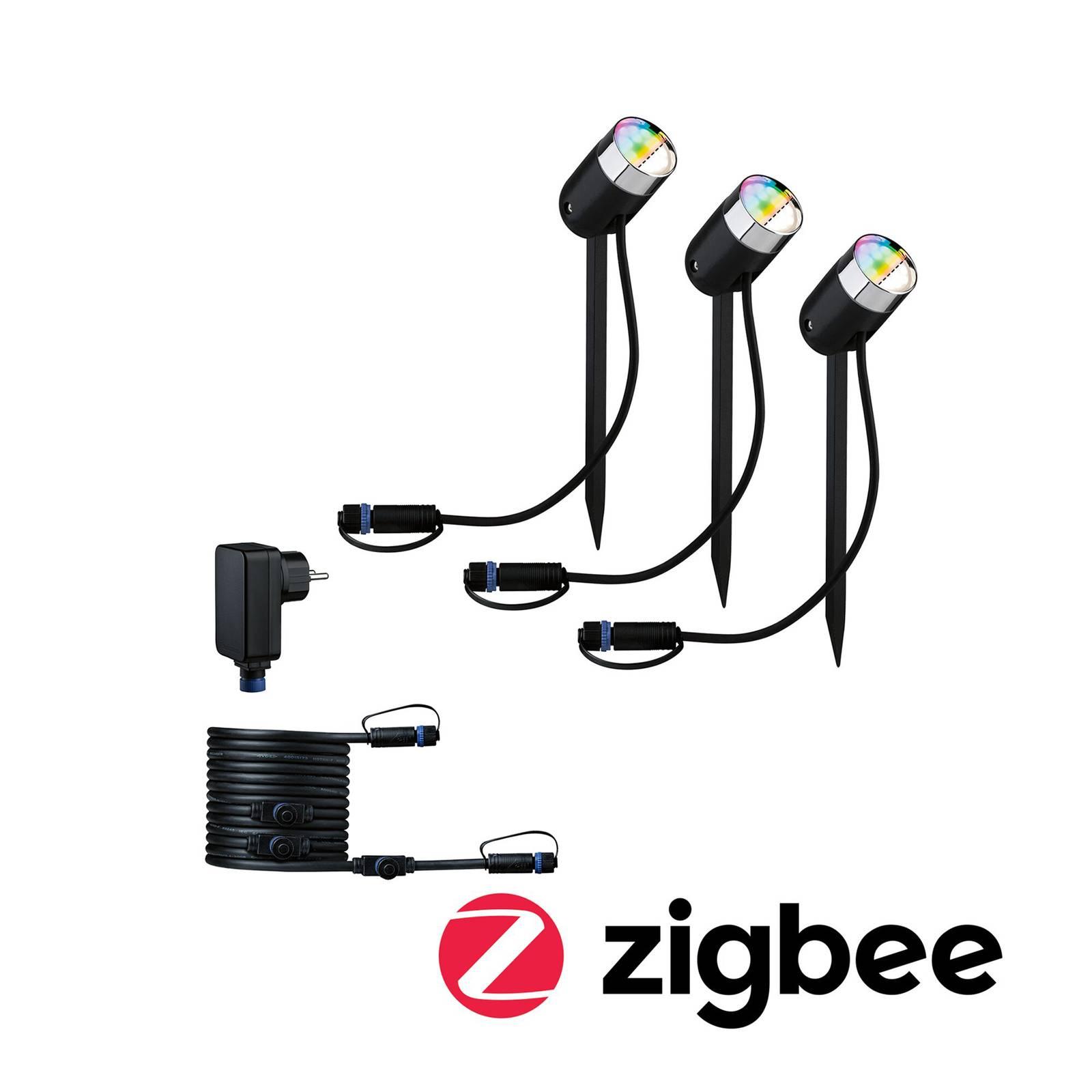 Paulmann Plug & Shine Pike ZigBee RGBW 3 kpl