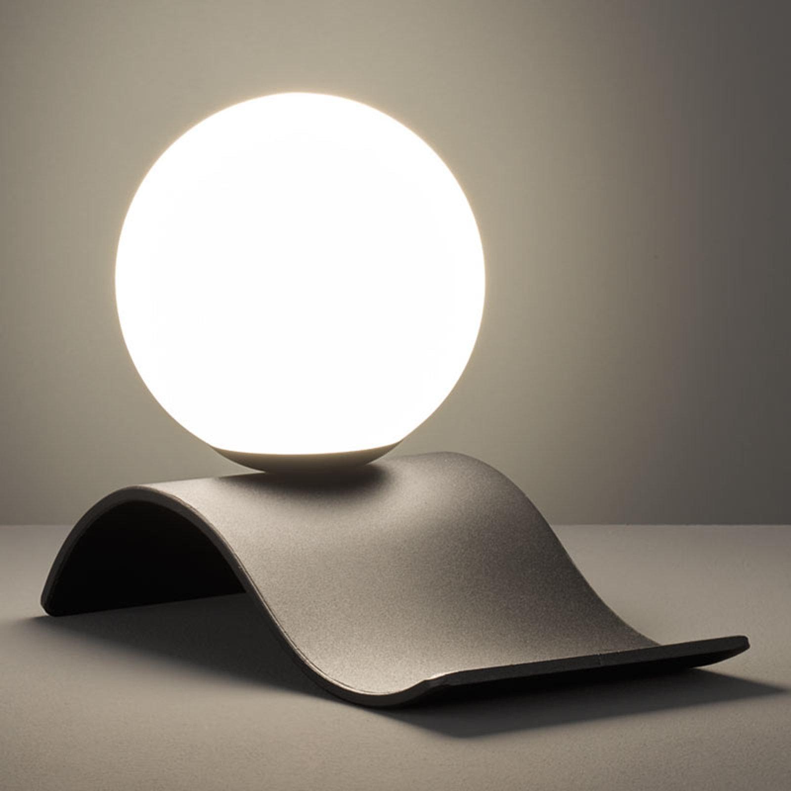 Glass-bordlampe Lara, svart matt