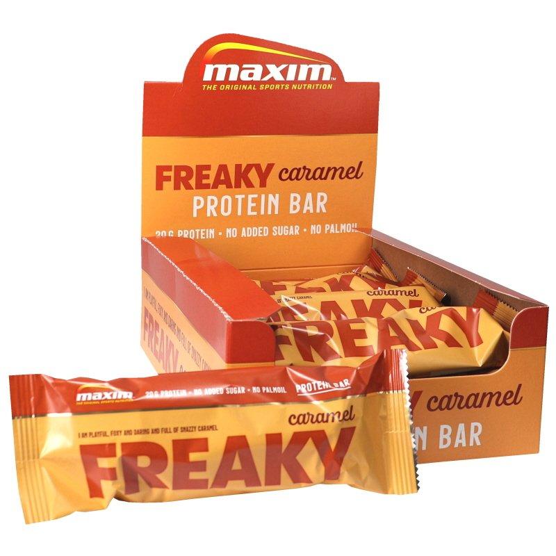 Proteiinipatukat Freaky Caramel 12kpl - 54% alennus