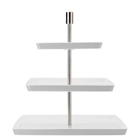 Loft Hvit Kakefat Kvadratisk 3 etasjer