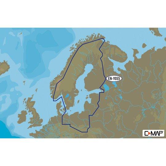 C-MAP MAX-N+ EN-Y055 kartkort 16 Gt