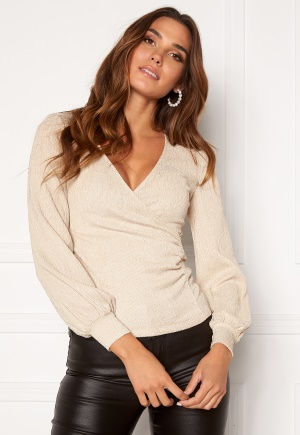 Happy Holly Simone party wrap top Champagne 48/50