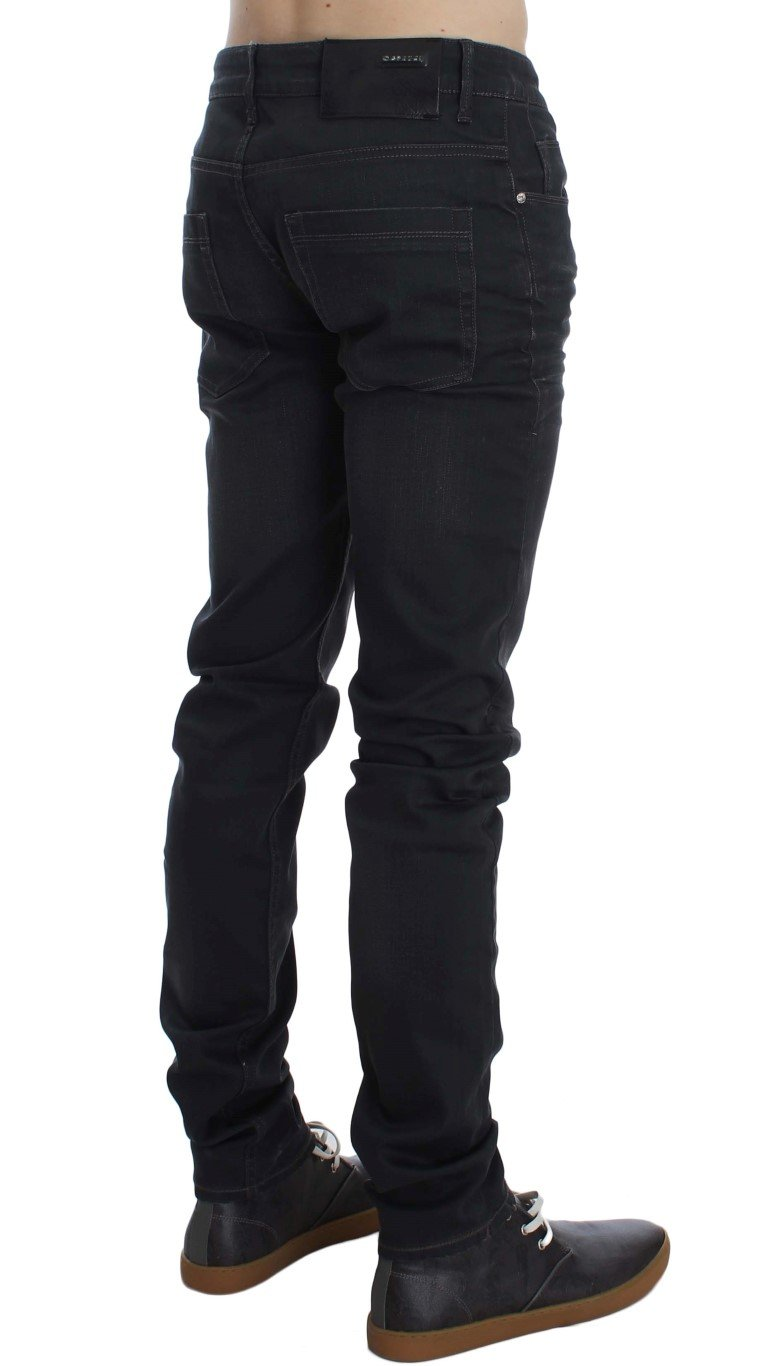 ACHT Men's Cotton Stretch Slim Fit Jeans Gray SIG30454 - W34