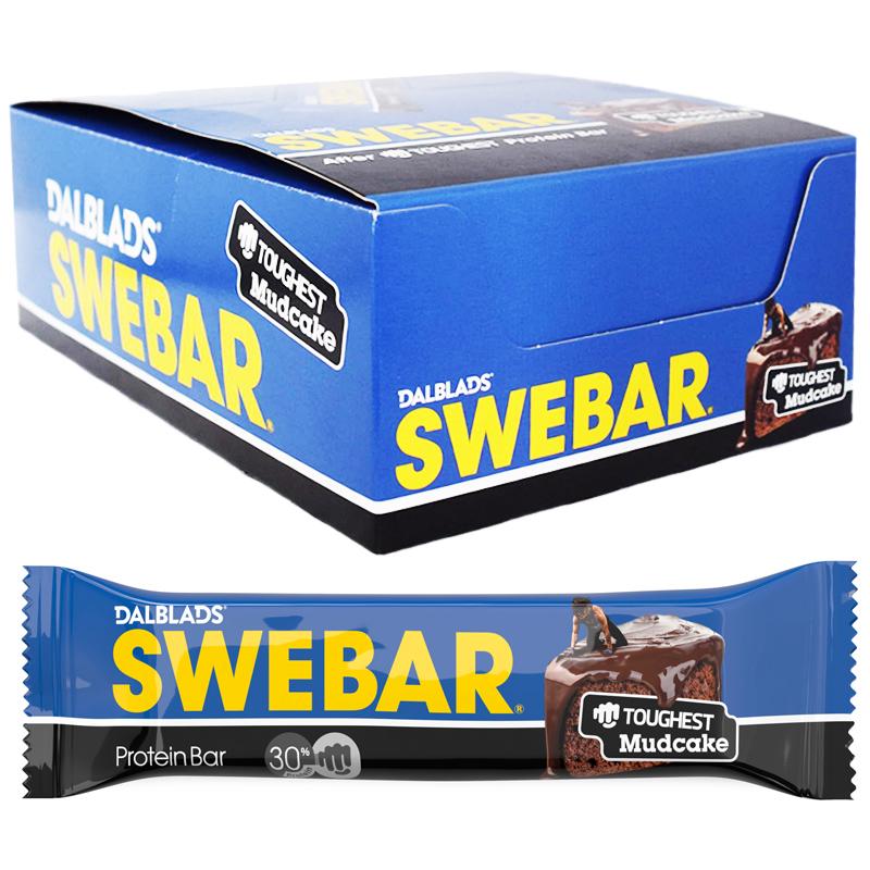 "Hel Låda Proteinbars ""Mudcake"" 20 x 55g - 40% rabatt"