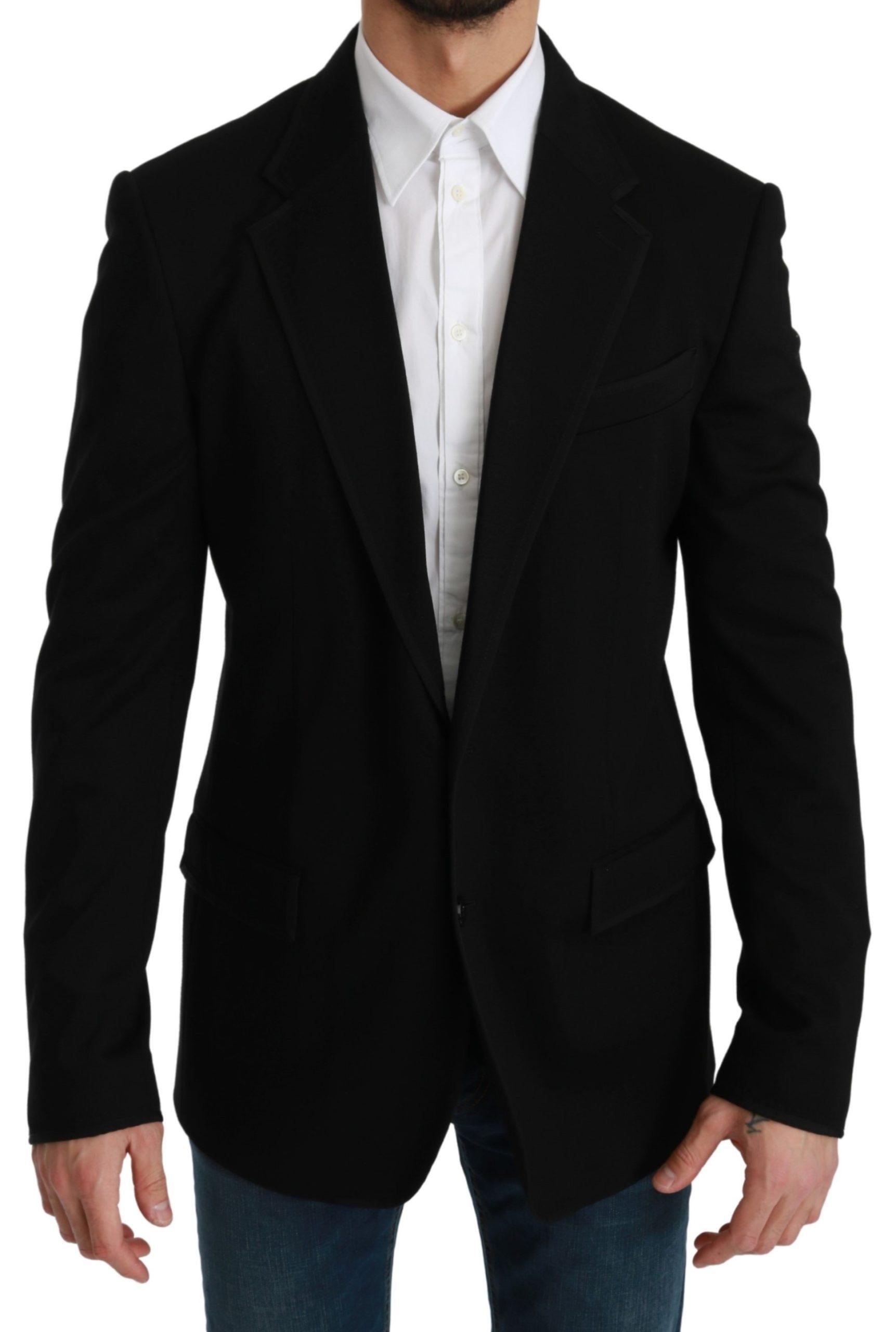 Dolce & Gabbana Men's Formal Slim Fit Blazer Black KOS1759 - IT52   L