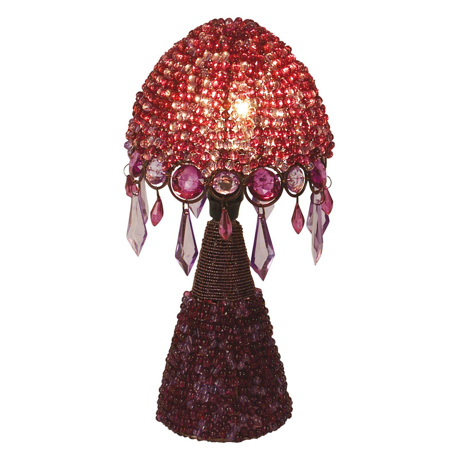 Bordlampe Perla, 30 cm fiolett