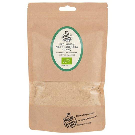 Powerfruits Ekologisk Ingefära Mald RAW, 200 g
