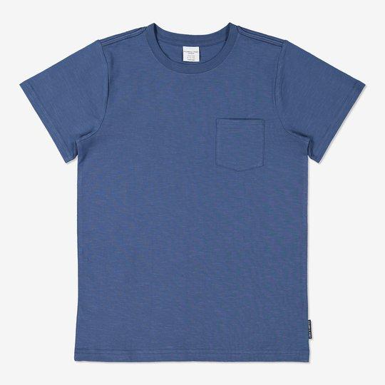 Ensfarget T-skjorte blå