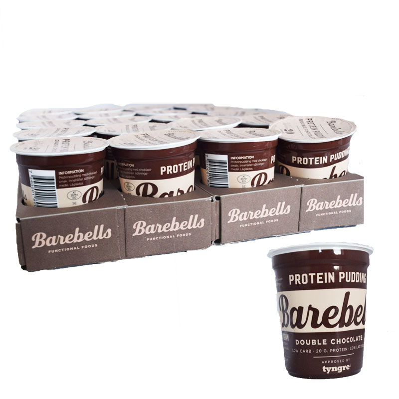 "Hel Platta Proteinpudding ""Double Chocolate"" 20 x 200 g - 58% rabatt"