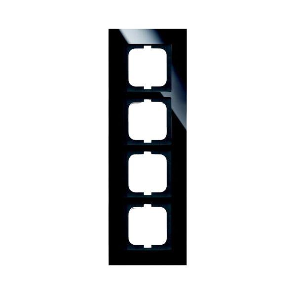 ABB 1724-825 Yhdistelmäkehys musta lasi 4-paikkainen