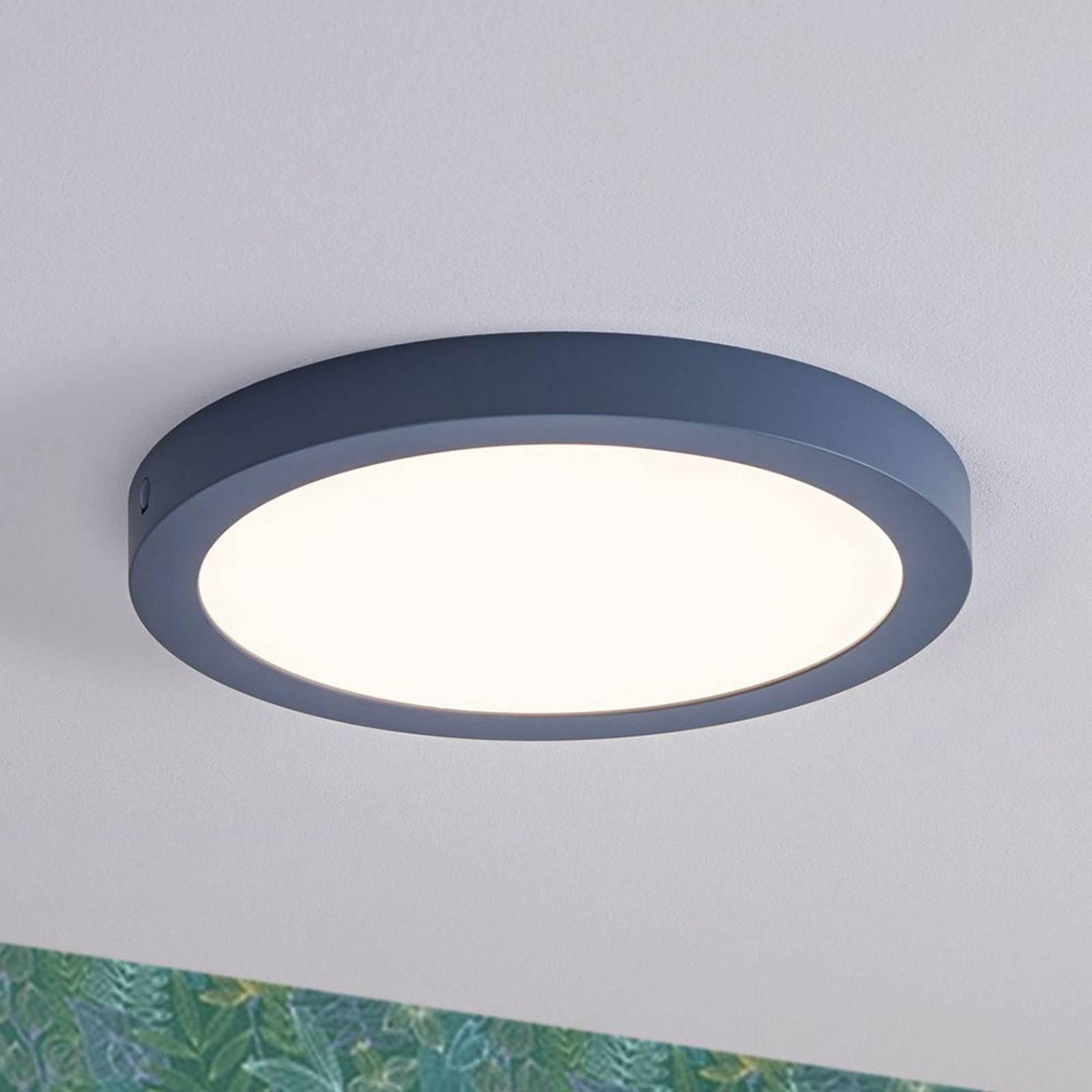 Paulmann-LED-paneeli Abia, pyöreä, harmaansininen