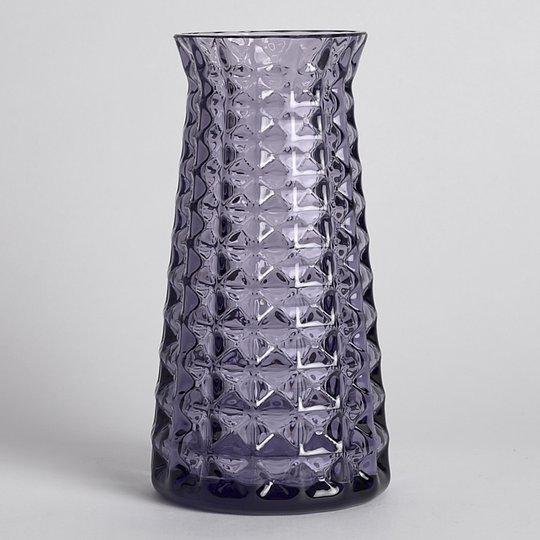 Reijmyre Glasbruk - SÅLD Våffelvas Glas Lila