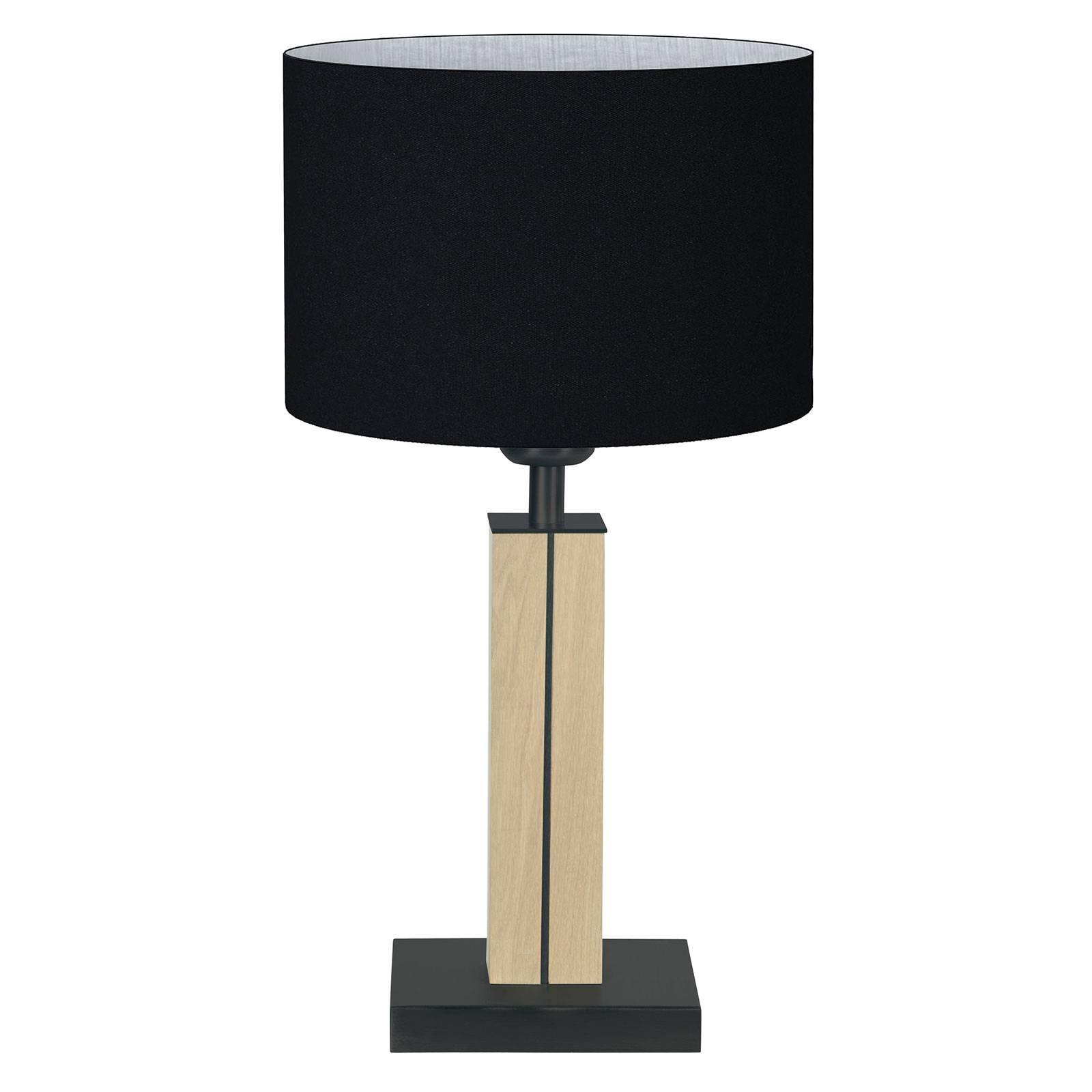 HerzBlut Dana-pöytälamppu luonnontammi, musta 41cm