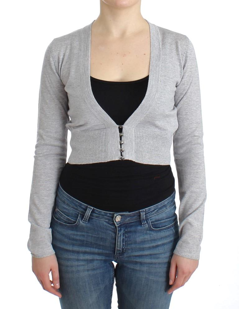 Cavalli Women's Cardigan Grey SIG11851 - IT46|XL