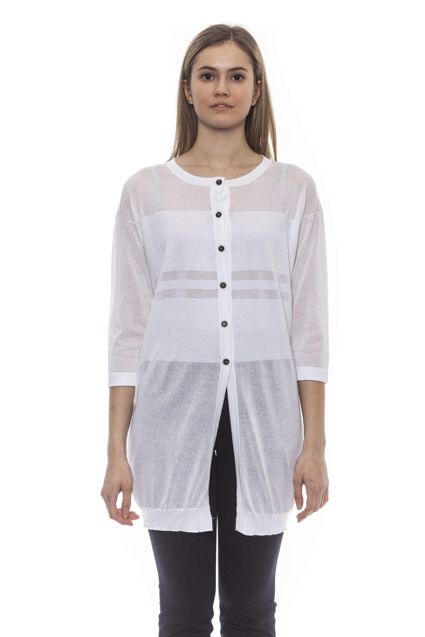 Peserico Women's C Bianco Sweater White PE1383128 - IT42 | S