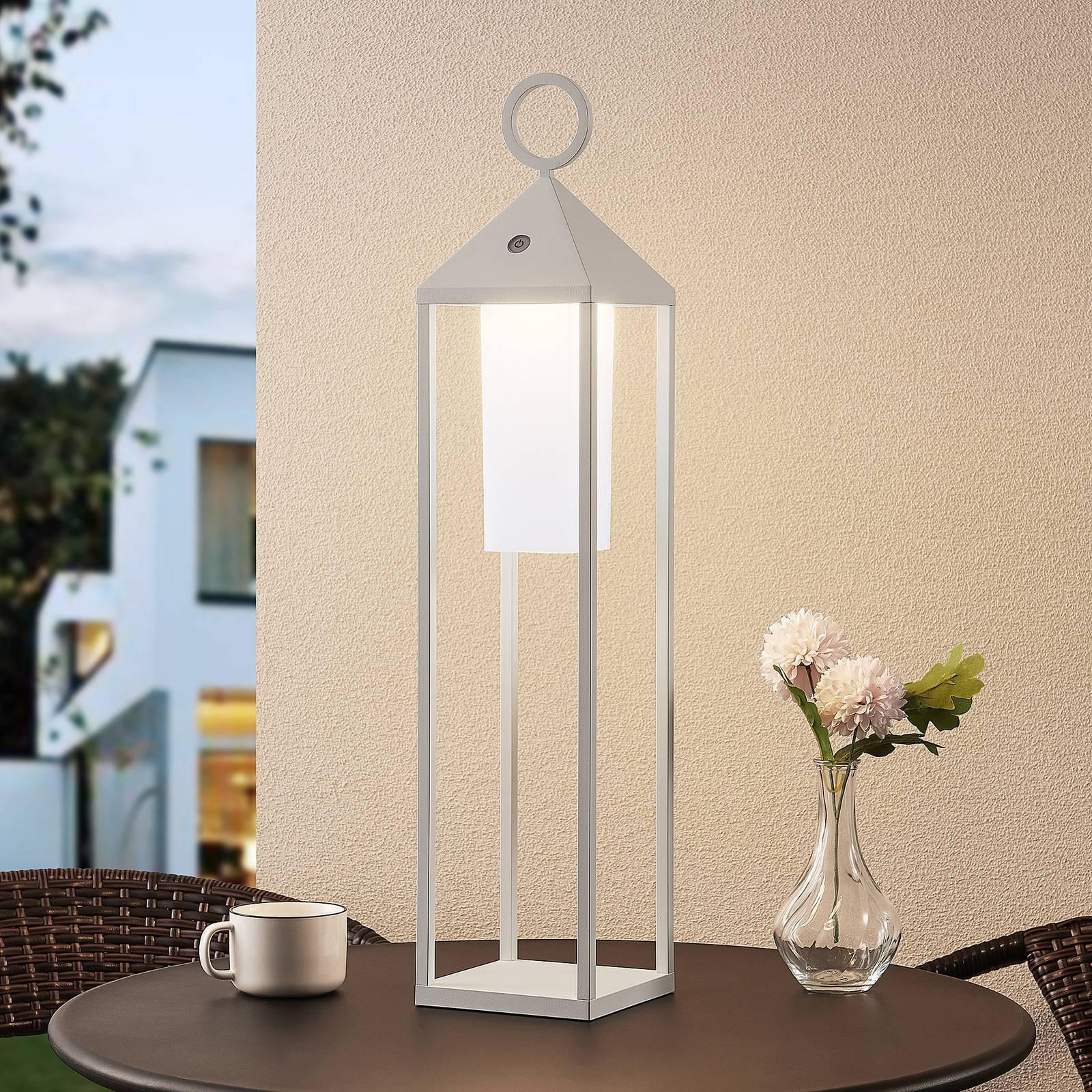 Lucande Miluma -LED-ulkolyhty, 64 cm, valkoinen