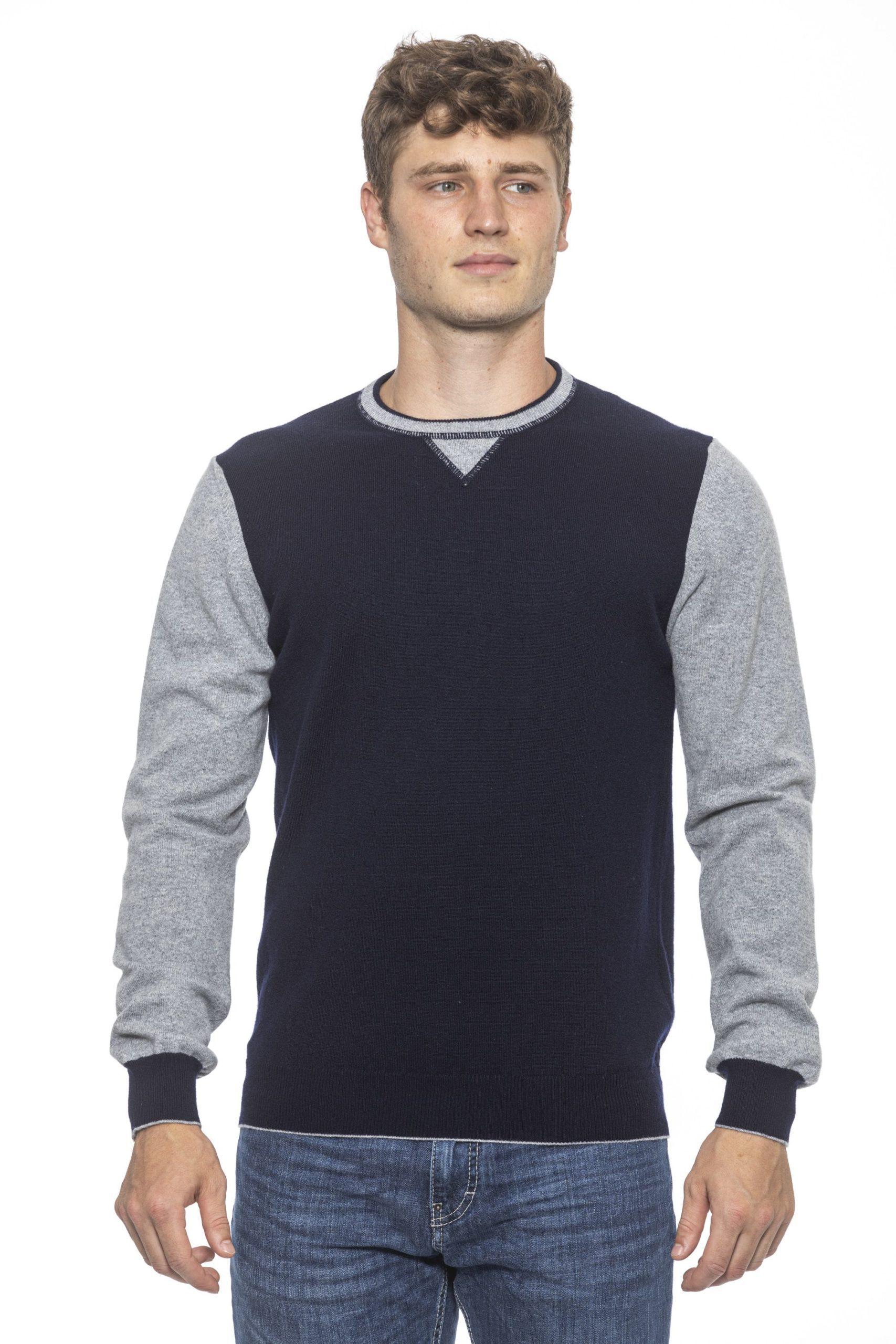 Alpha Studio Men's Notte Sweater Blue AL1191962 - IT50 | L