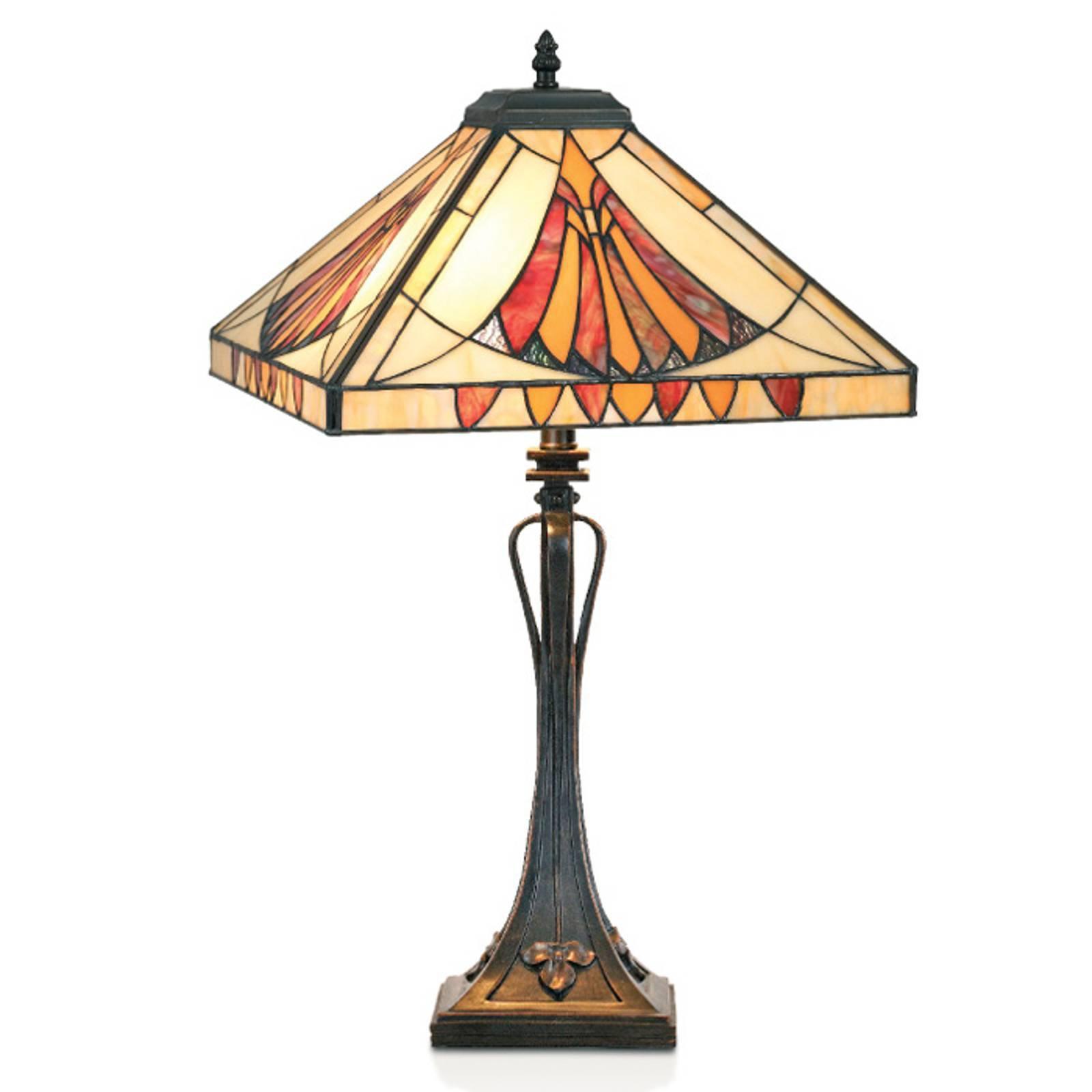 Tiltalende AMALIA bordlampe i Tiffany-stil