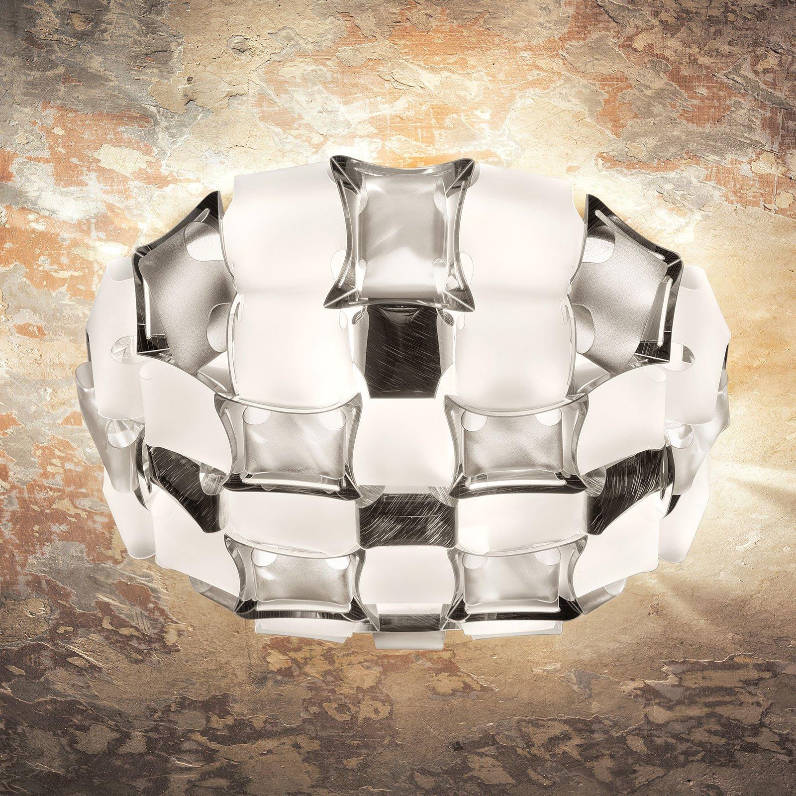 Slamp Mida taklampe, Ø 67 cm, platina/hvit