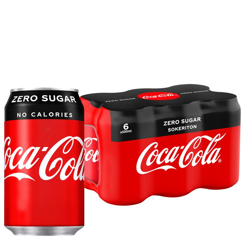 Coca-Cola Zero sokeriton virvoitusjuoma 6kpl - 20% alennus