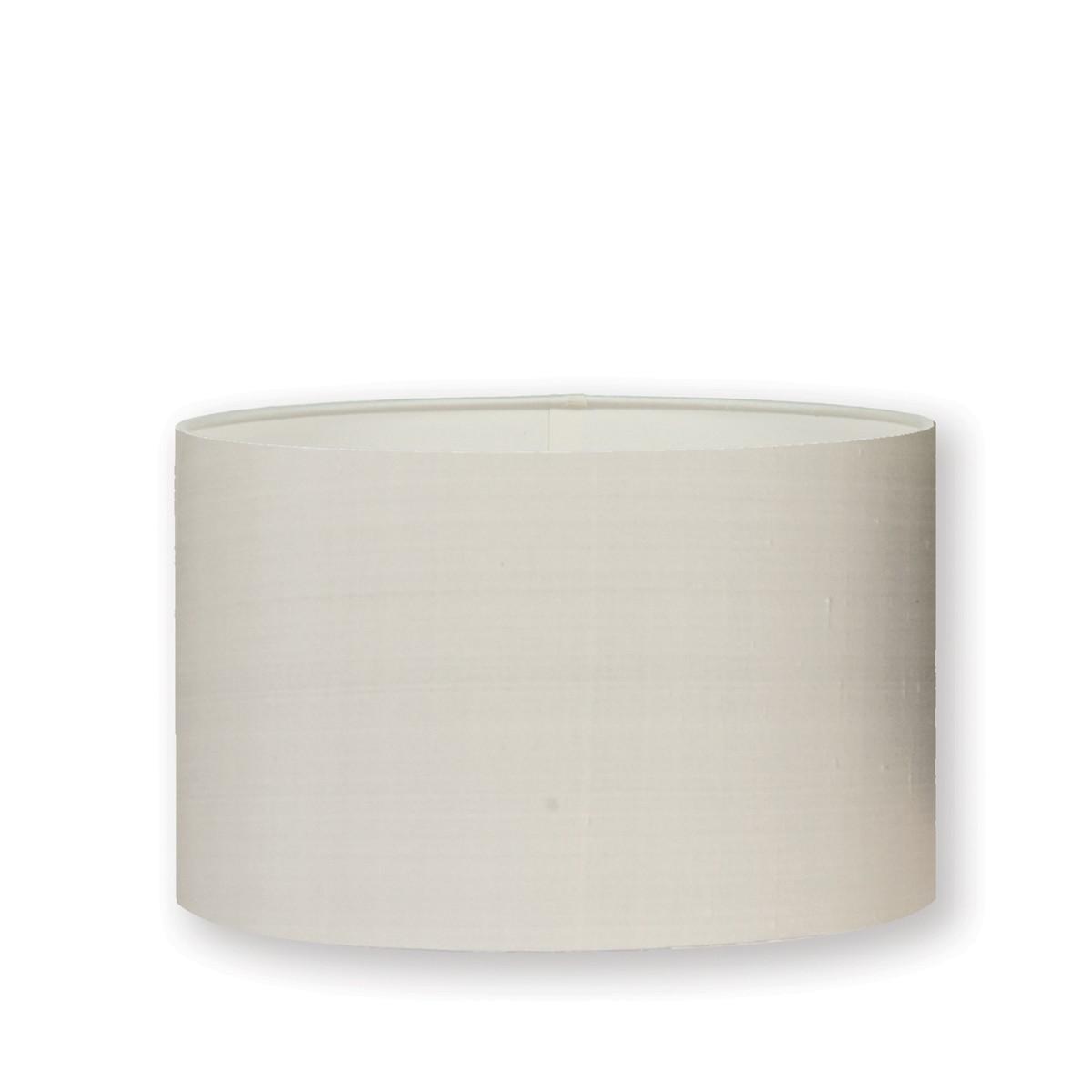 "William Yeoward   Silk 16"" Drum Lampshade Chalk"