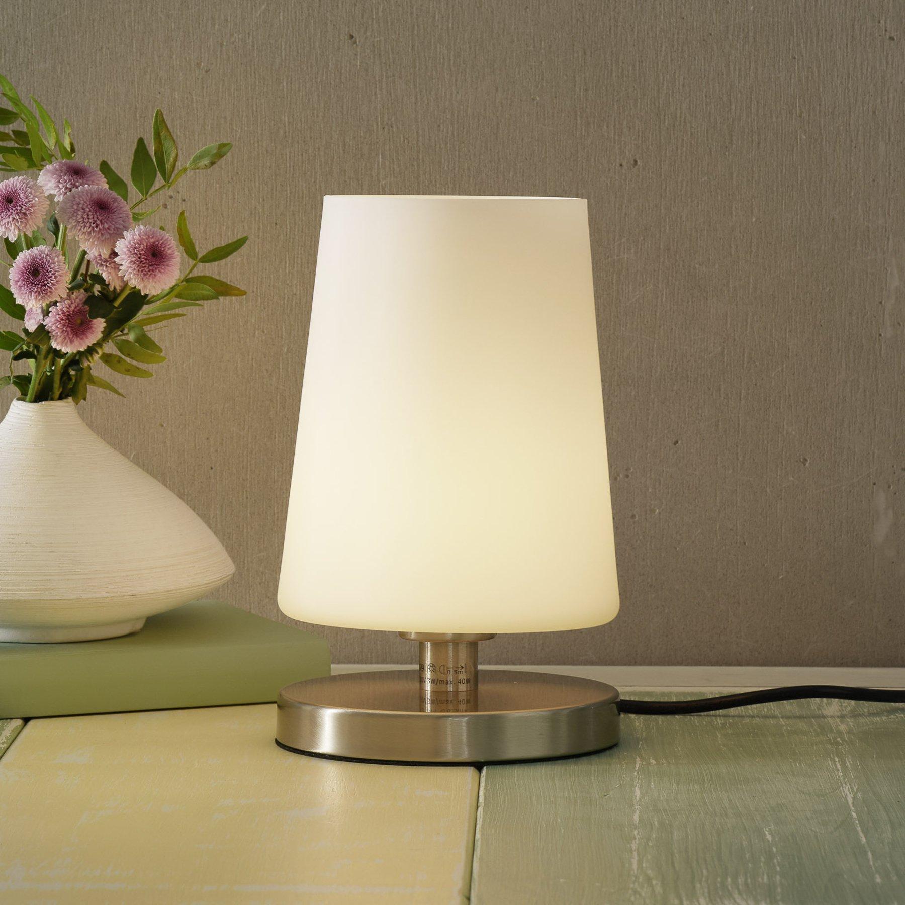 LED-nattbordslampe Sonja med touchdimmer