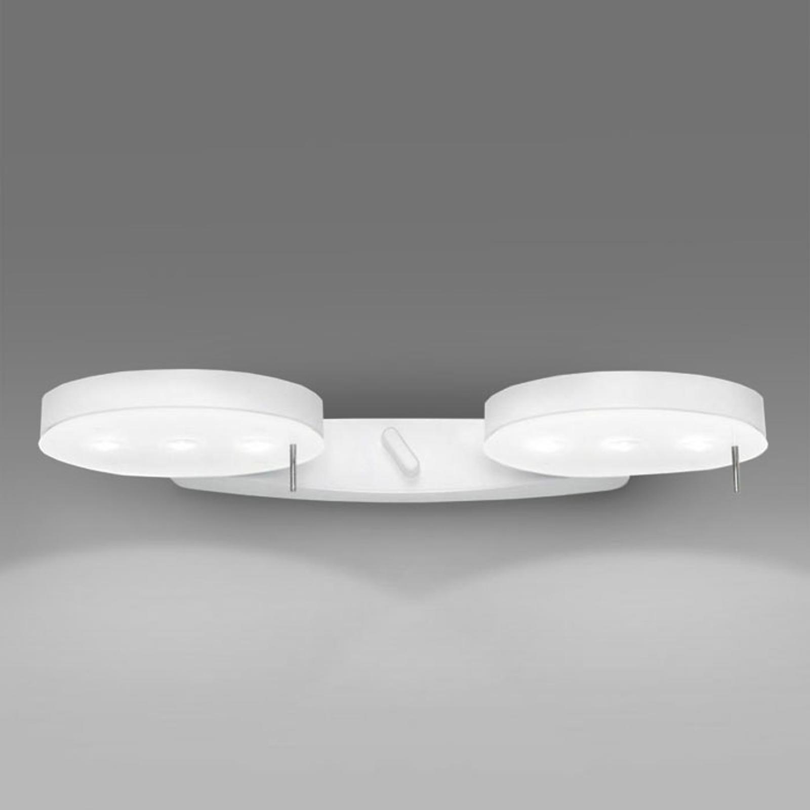 Valkoinen seinävalaisin 3-LED, 2 lamppua