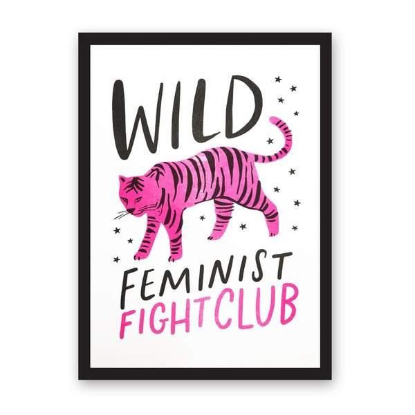 A4 Wild Feminist Fight Club Riso Print