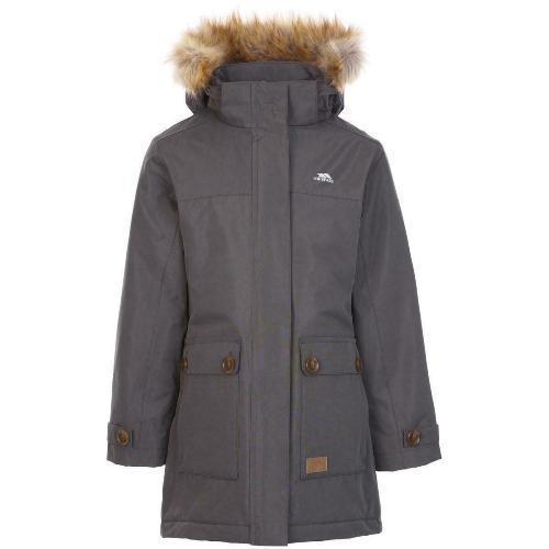 Trespass Kid's Rhoda Fishtail Padded Jacket Various Colours Rhoda_Jkt - Dark Grey 9-10 Years