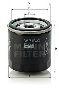 Öljynsuodatin MANN-FILTER W 712/83