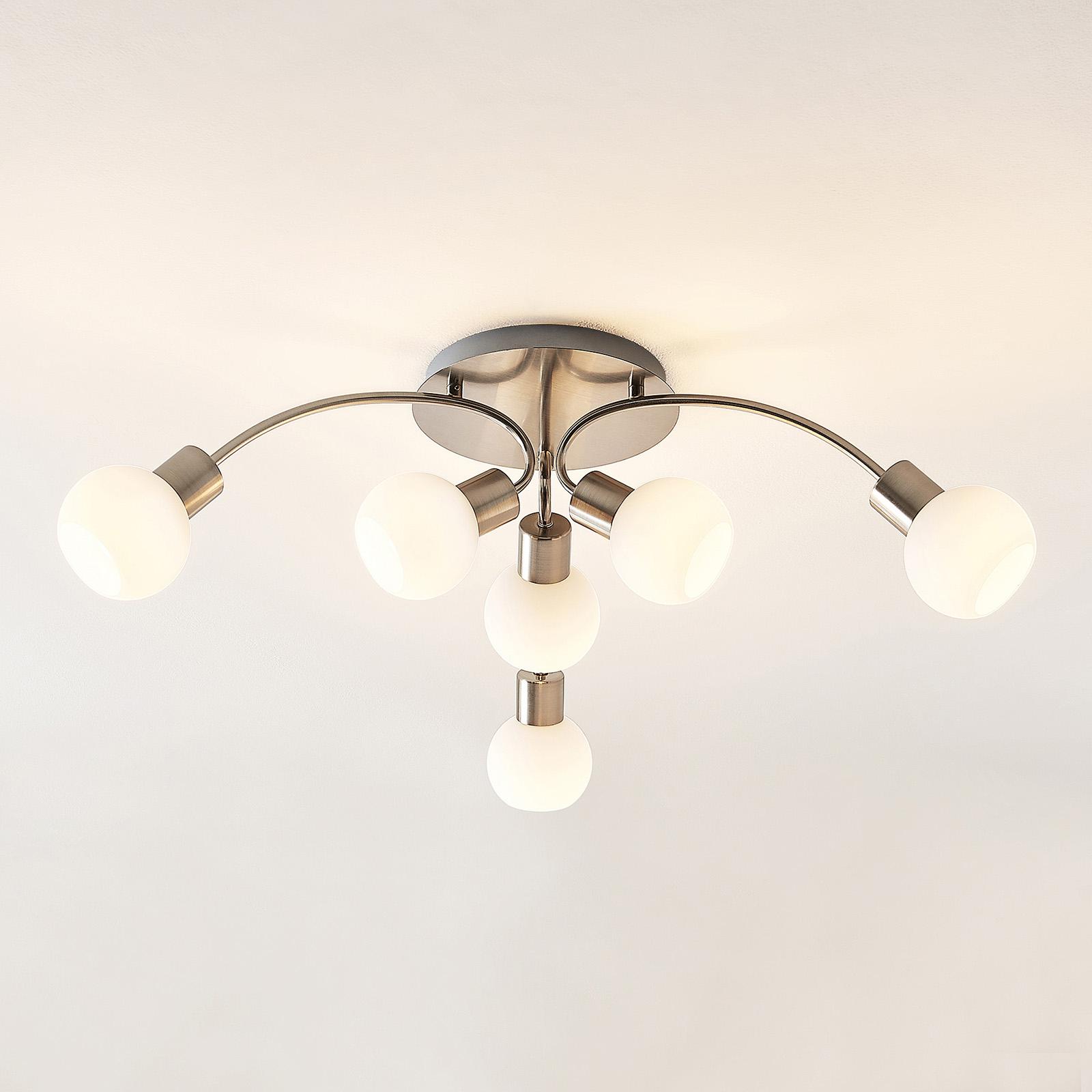Lindby Tancerdi -LED-kattovalaisin nikkeliä