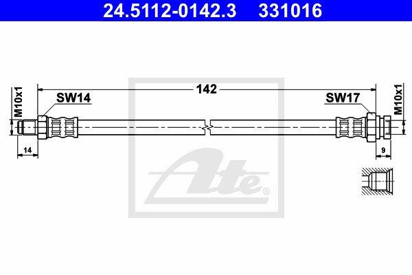 Jarruletku ATE 24.5112-0142.3
