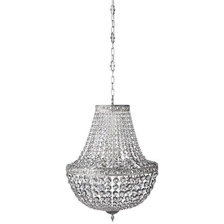 Divine Krystallkrone Shadow/Sølv Ø55 cm.