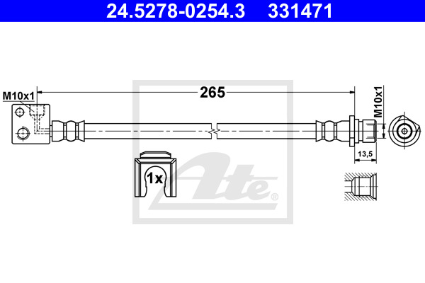 Jarruletku ATE 24.5278-0254.3