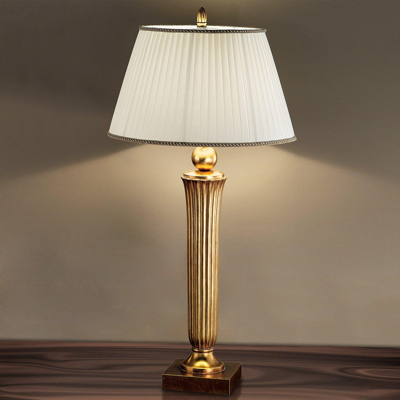 Tiltalende JANNI bordlampe i varmt gull