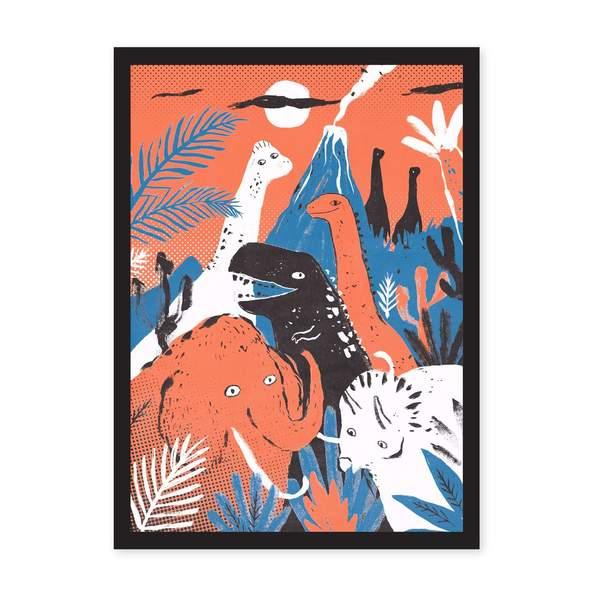 A4 Dinosaurs Riso Print