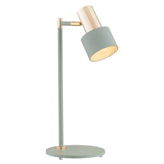 Bordlampe Destin, justerbar grønn/messing