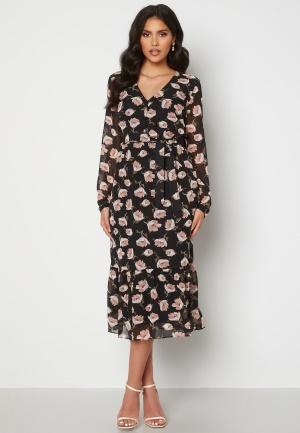 Happy Holly Ninni midi dress Black / Patterned 36/38