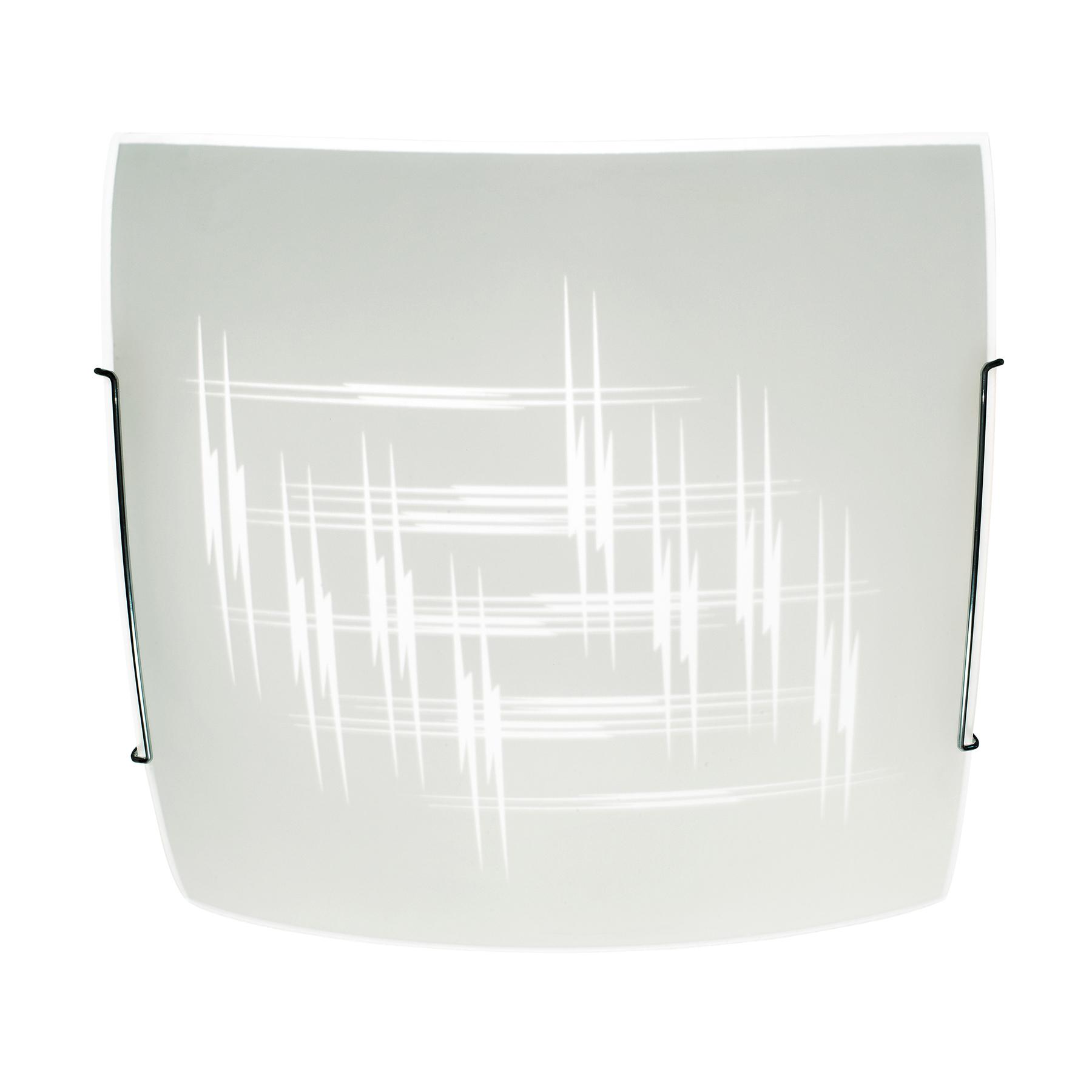 Kattovalaisin Scratch lasista, 40x40cm