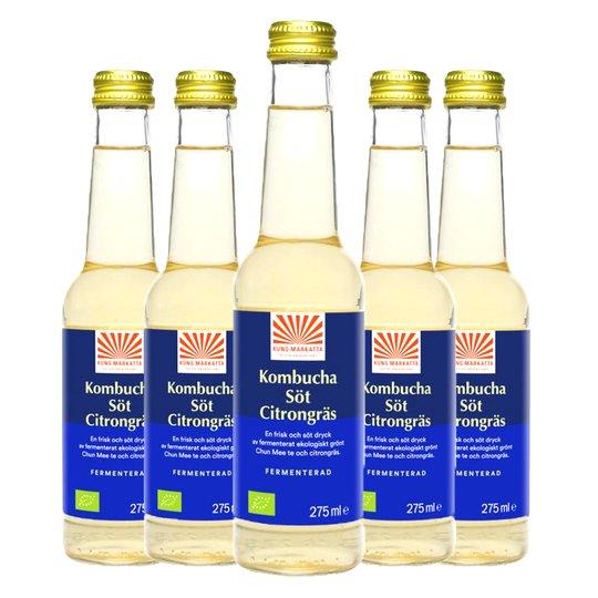 Eko Kombucha Citrongräs 5-pack - 80% rabatt