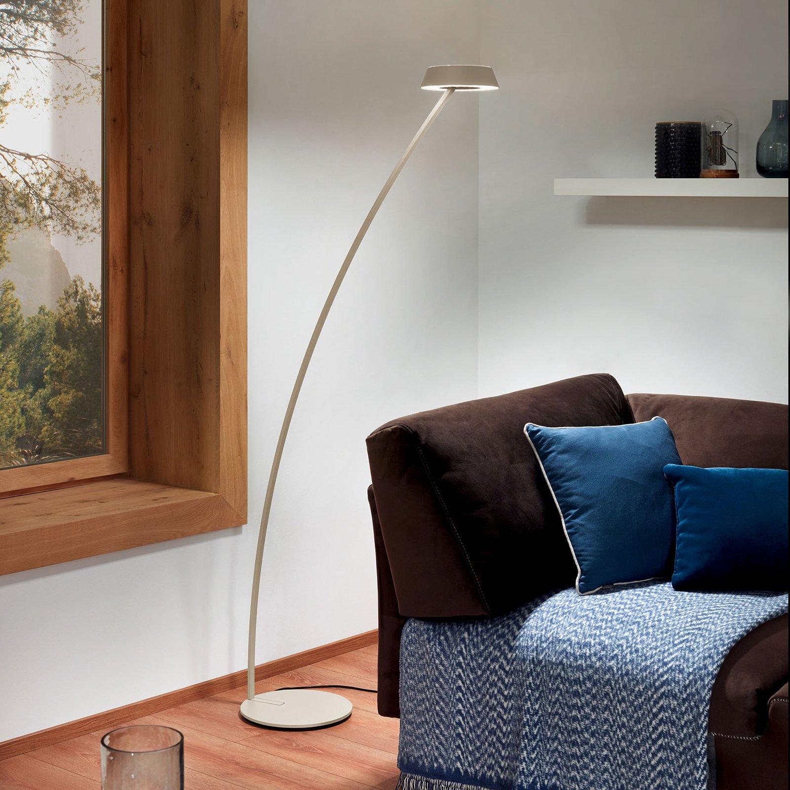 OLIGO Glance LED-gulvlampe bøyd, kasjmir